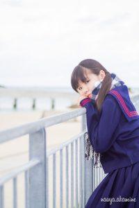 制服フォトSEINEちゃん@美々ビーチ糸満